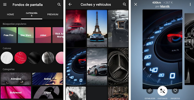 Las mejores apps de fondos de pantalla