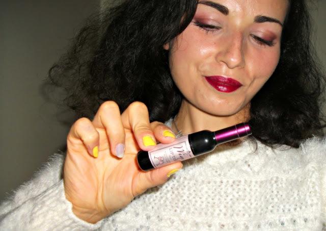 DLM Wine Lip Tint in Merlot Burgundy, moisturizing lip tint