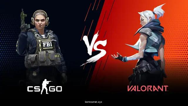الفرق بين Valorant vs CS: GO وأيهما أفضل