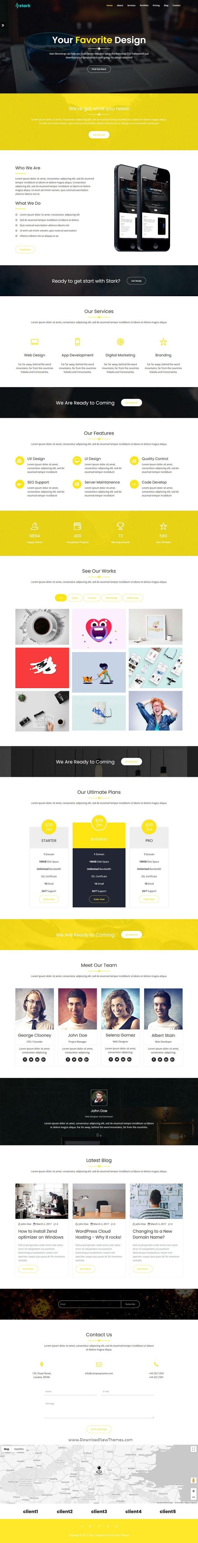Responsive One Page Business Template