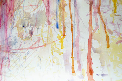 contemporary art, abstract expressionism, aquarelle, markmaking, scribble infused, art, painting, Rita Keri artwork