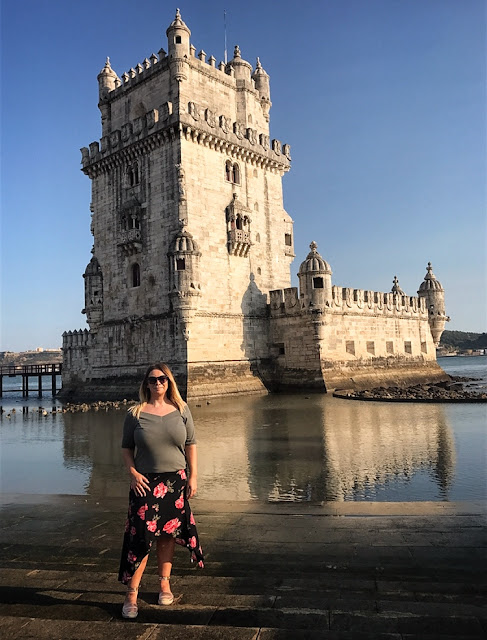 Tourist pictures taken at Belem Tower in Lisbon