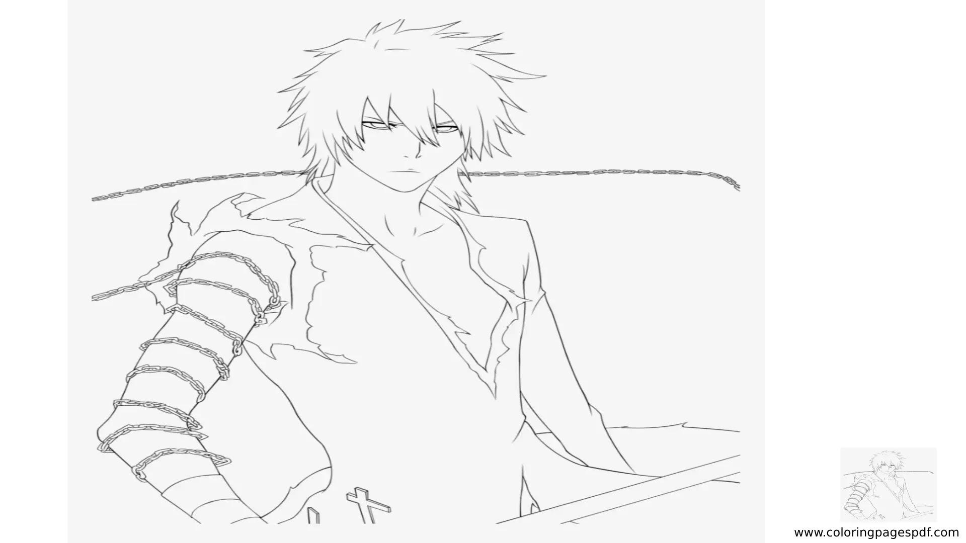 Coloring Page Of Ichigo (Bleach)