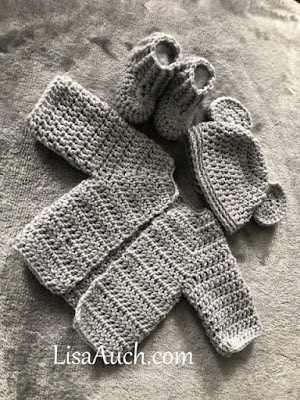 Crochet Pattern All in one cardigan newborn Free crochet pattern