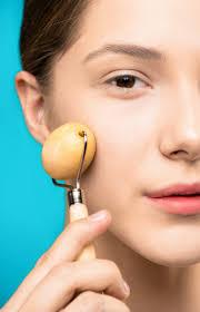 Massage on face,skin massage