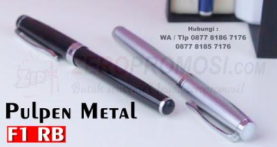 Merchandise Pulpen Besi F1 RB, Pulpen besi promosi, pen metal souvenir, souvenir pen stainless, souvenir pen premium kode F1 RB