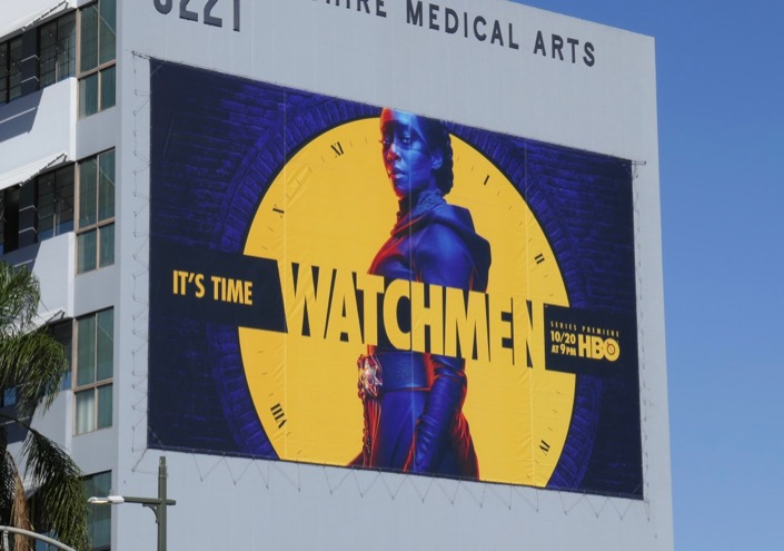 Giant Watchmen series premiere billboard