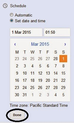 How To Schedule Posts In Blogger