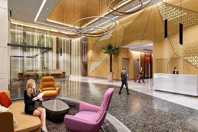 Lobby of Big Box Hotel Johor