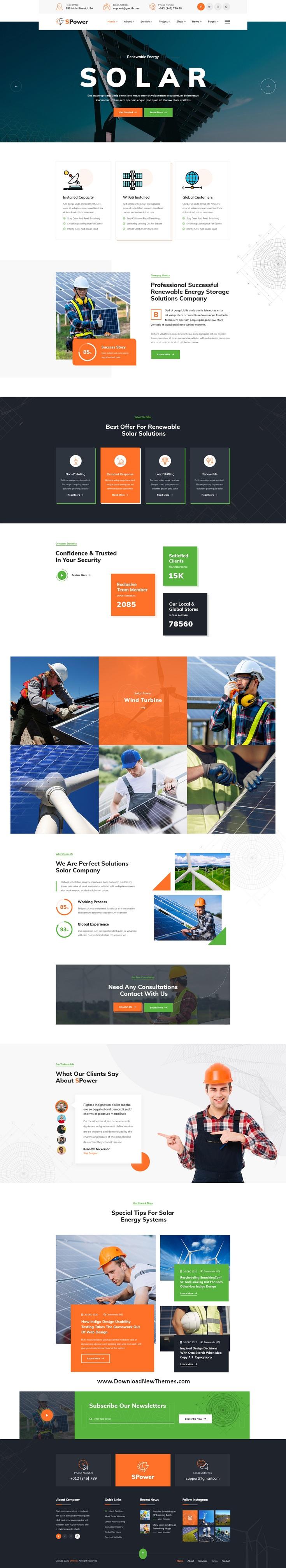 Best Wind & Solar Energy Template