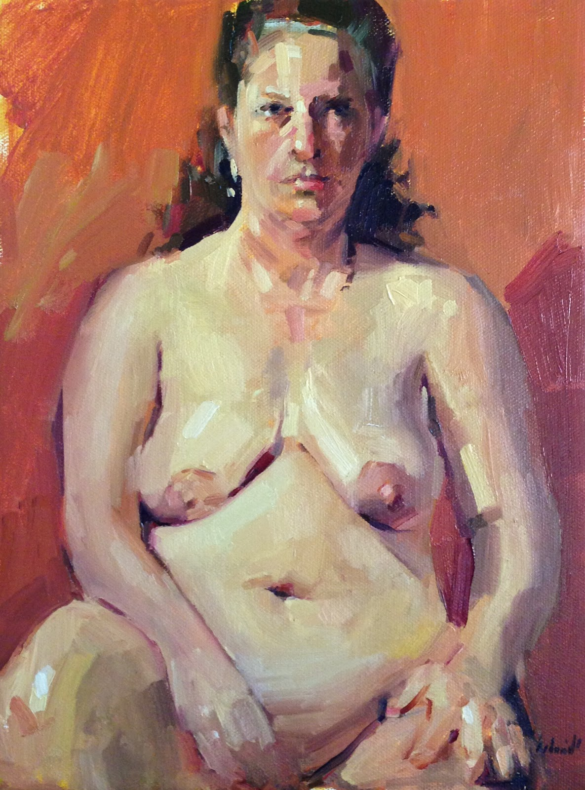 Oil Painting Of Nude Girl