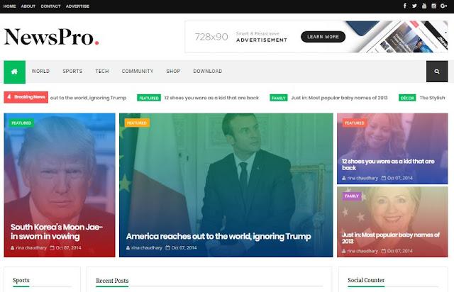 newsPro responsive blogger templates