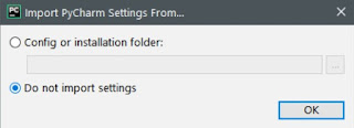 Import PyCharm Settings From the dialog box