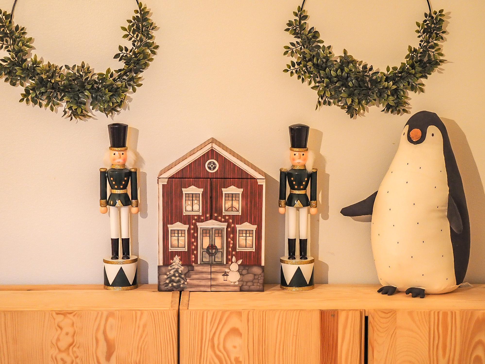 Joulukalenterin täytteet 2- ja 4-vuotiaille