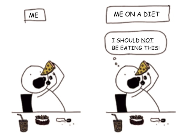 Me Me on a diet i should not be eating this