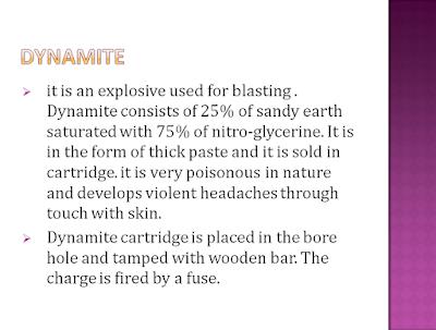 dynamite used for blasting