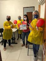Em Baraúna, profissionais de saúde comemoram recuperação de pacientes da Covid-19