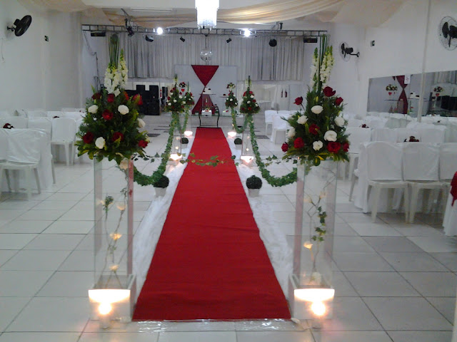 Decoraç u00e3o para Casamento Vermelho e Branco 18 05 2013 -> Decoração De Casamento Simples Com Tnt Vermelho E Branco