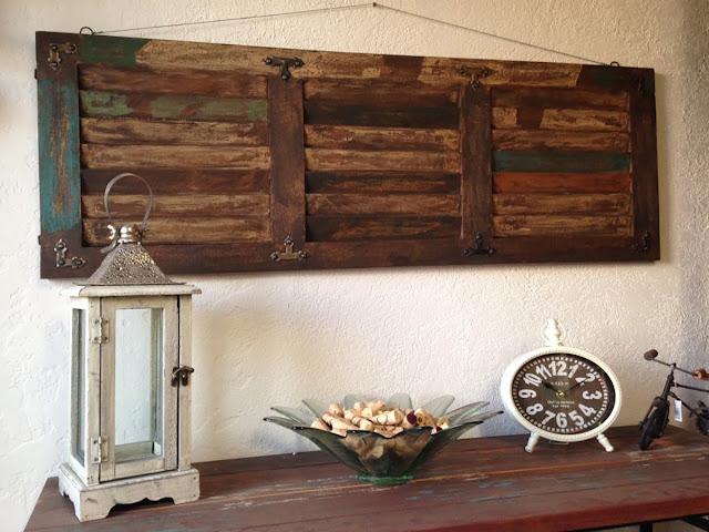 Wood panel wall decor