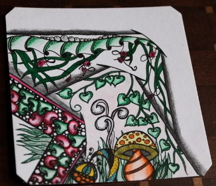 "Zentangle Garden with ""slits"""