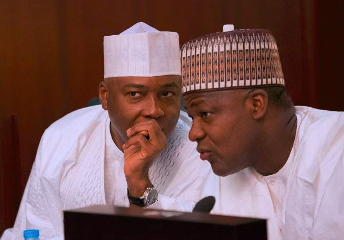 Image result for APC, PDP in war of words over Saraki, Dogara, others