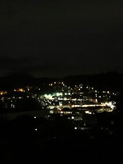 晚上從思維靜院望向長洲的點點燈火