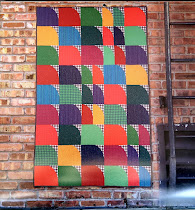 New! Plaid Happy quilt pattern by Modern Quilt Studio