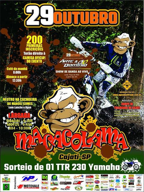 TRILHEIROS PARTICIPAM DE MACACOLAMA NESTE DOMINGO, 29/10 EM CAJATI
