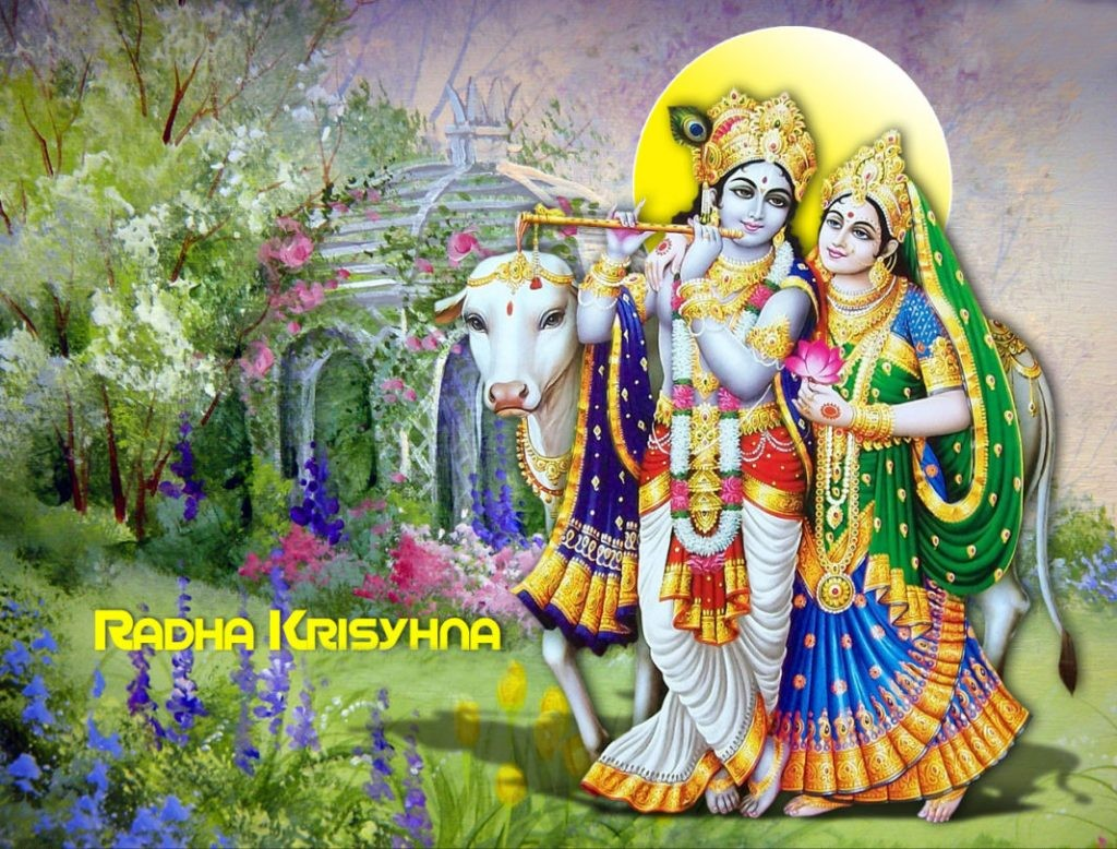 god radha krishna new images with cow