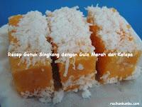 Resep dan cara membuat Getuk Singkong dengan Gula Merah dan Kelapa