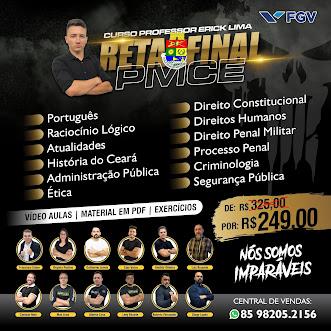 CURSO RETA FINAL CONCURSO PMCE
