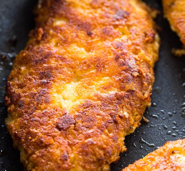 CRISPY PARMESAN CRUSTED CHICKEN BREASTS (LOW-CARB – KETO) #healthy #diet