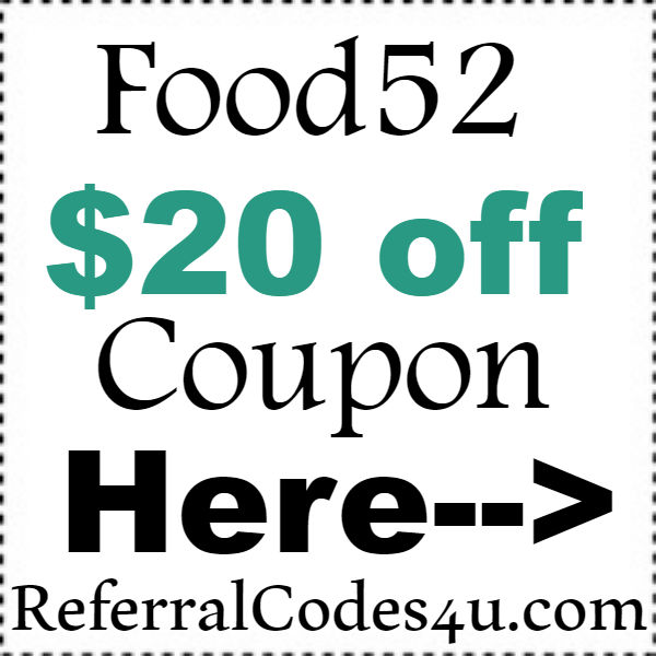 Food52.com Discount Codes 2016-2017, Food52 Coupon Code September, October, November