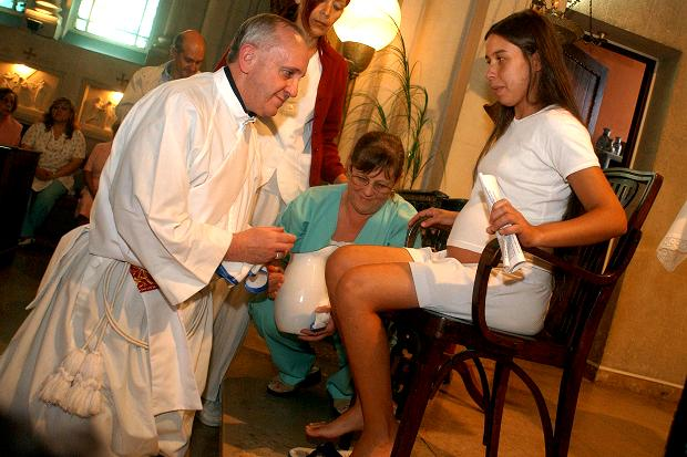 Image result for pope francis washing feet