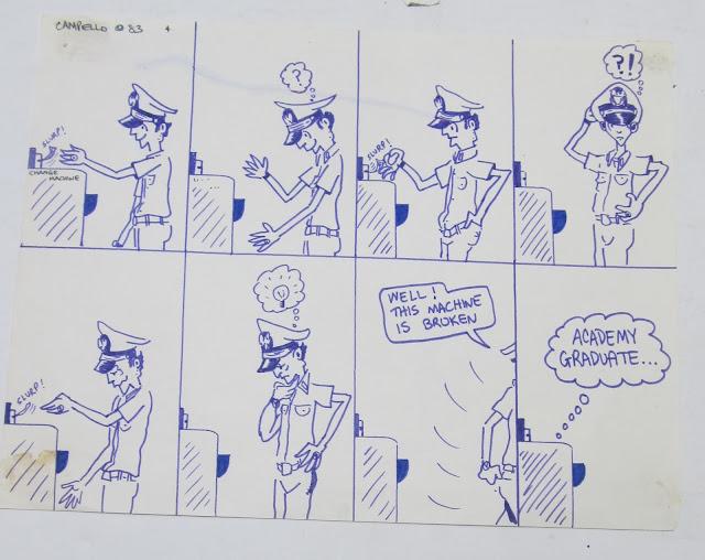 Funny 1983 US Navy cartoon by F. Lennox Campello