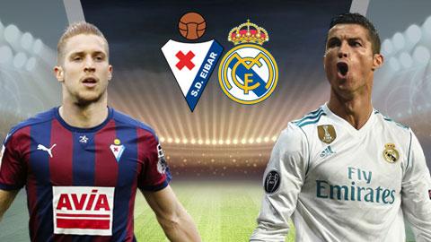 Đối đầu lịch sử của  Eibar vs Real Madrid