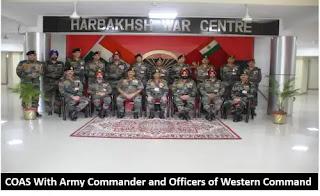 सेना प्रमुख ने चंडी मंदिर मिलिट्री स्टेशन का दौरा किया