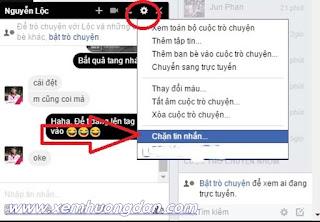 Huong dan chan tin nhan facebook