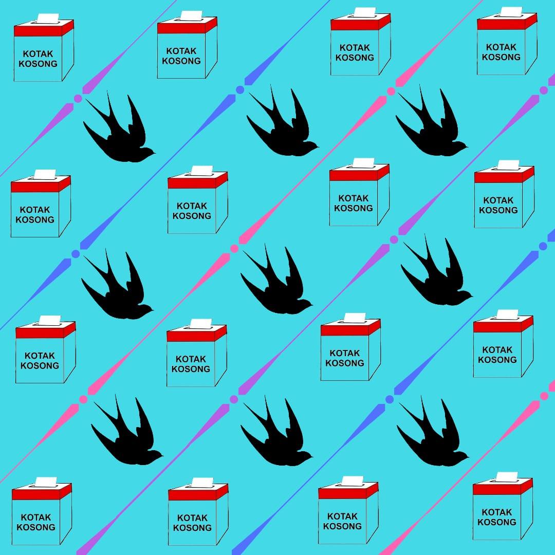 Mengapresiasi Gerakan Kotak Kosong dengan Desain Batik Kebumen