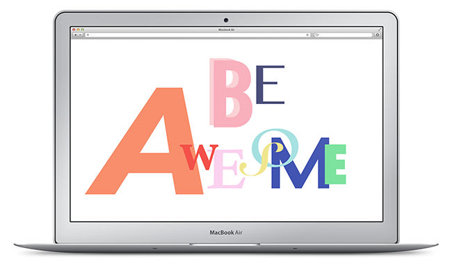 """Be Awesome"" Design Download 