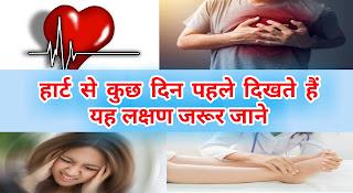 Ye lakshan batate hai hai ki aapko heart attack aane wala hai, heart attack se kuch din pehle dikne wale lakshan, reason for heart attack in hindi,