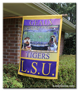 LSU house flag with BFTB NETWoof Sports