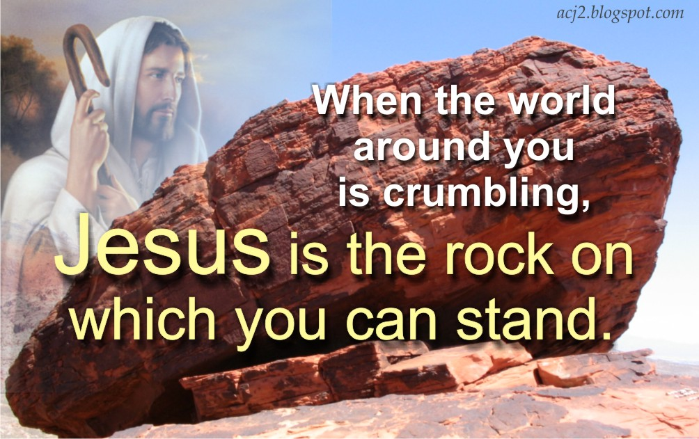 Jesus, our Rock | Ric's Inspirational Verses