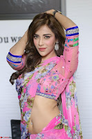 Angela Krislinzki Rogue Movie Fame Telugu Actress in Saree Backless Choli 035.JPG