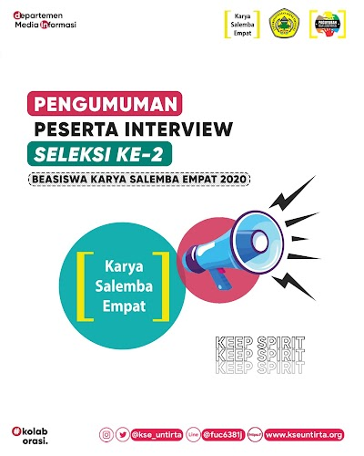 PENGUMUMAN LOLOS KE TAHAP INTERVIEW BEASISWA KSE 2020-2021