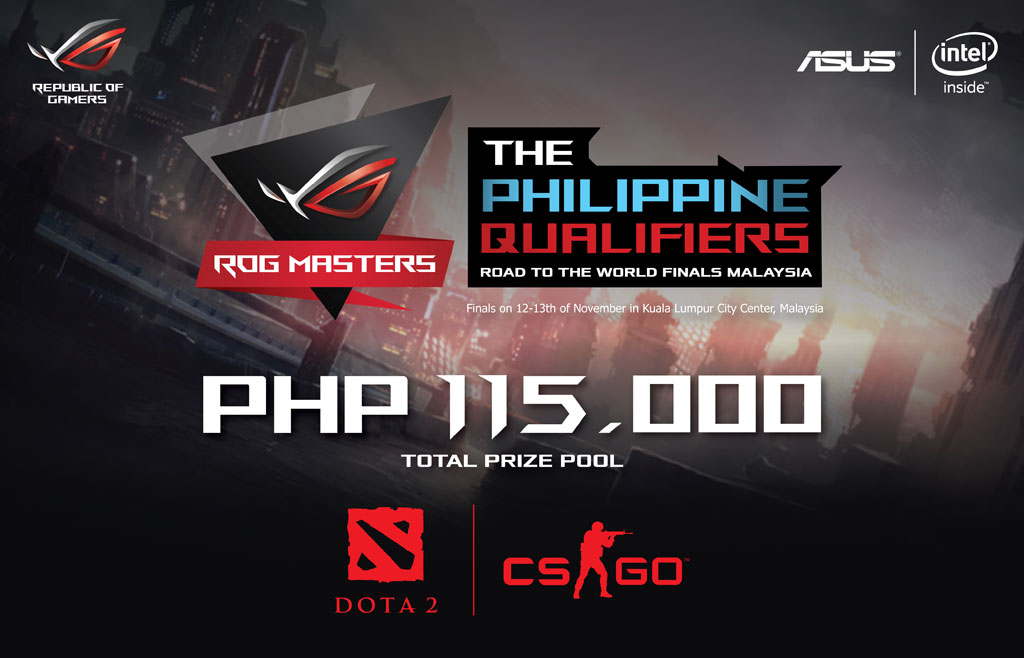 ASUS ROG Masters 2016 Gaming Tournament PH Qualifiers for DOTA 2 and CS GO