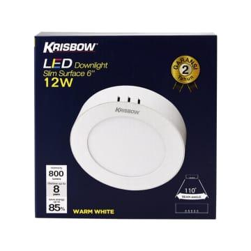 Krisbow Downlight LED Warm White