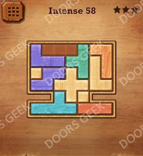 Cheats, Solutions, Walkthrough for Wood Block Puzzle Intense Level 58