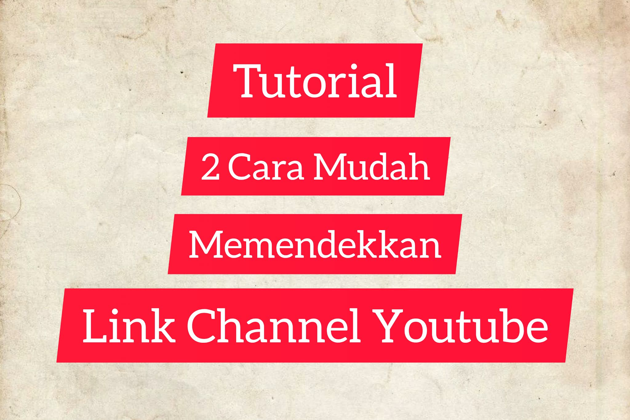 Cara memendekkan link chanel youtube