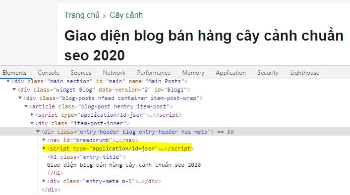 Hướng dẫn cài đặt cấu trúc dữ liệu BreadcrumbList cho blogspot